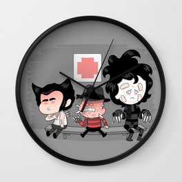 Don't run with scissors Wall Clock