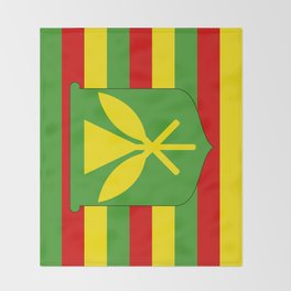Kanaka Maoli Hawaii Flag Throw Blanket