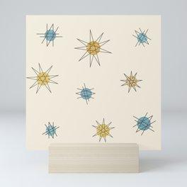 Atomic Age Sputnik Starburst Planets Mini Art Print