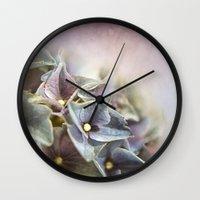 hydrangea Wall Clocks featuring HYDRANGEA by VIAINA