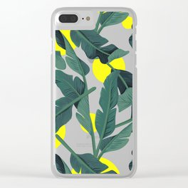 Tropical '17 - Fresh [Banana Leaves] Clear iPhone Case