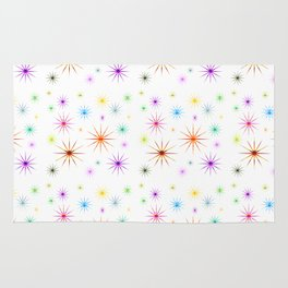 Colorful Twinkling Stars Pattern Rug