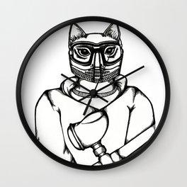 Paintball Kitty Wall Clock