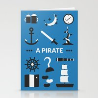 ouat Stationery Cards featuring OUAT - A Pirate by Redel Bautista