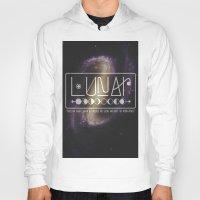 lunar Hoodies featuring Lunar by Nate Compton