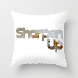 Sharpen Up Throw Pillow