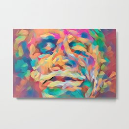 Abstract Rainbow Camouflage I Metal Print