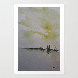 Bridge landscape Art Print