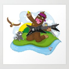 Bigfoot Rocks! Art Print