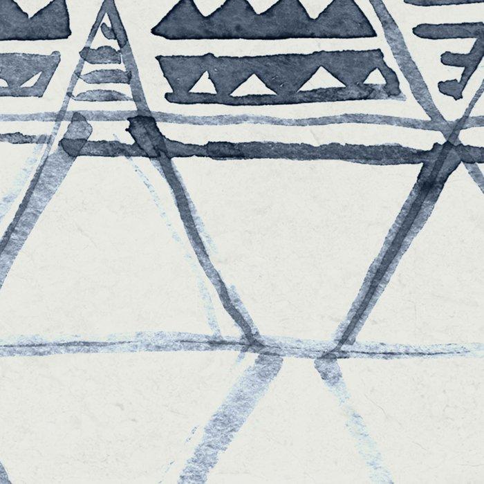 Simply Tribal Shibori in Indigo Blue on Lunar Gray Leggings