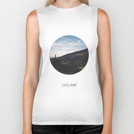 Iceland Landscape | Graphic Design | Picture in Circle Biker Tank