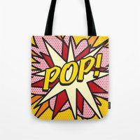 comic book Tote Bags featuring Comic Book POP! by Thisisnotme