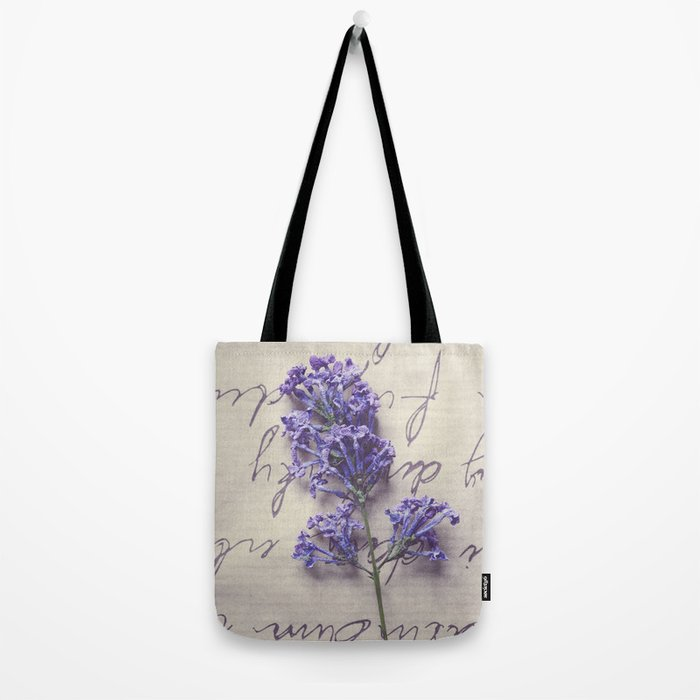 Love Letter With Lilac Tote Bag