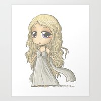 mother of dragons Art Prints featuring Mother of Dragons by AlyTheKitten