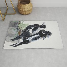 Chat Session - Magpies Rug