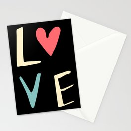 Love Lettering Black #Valentines Stationery Cards
