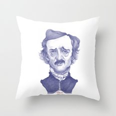 Edgar Allan Poe illustration Throw Pillow
