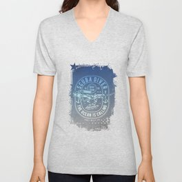 The Ocean Is Calling And I must Go Scuba Diving Unisex V-Neck
