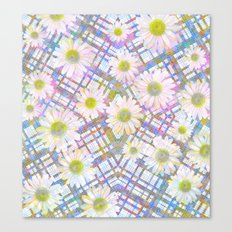 Daisy Plaid Canvas Print