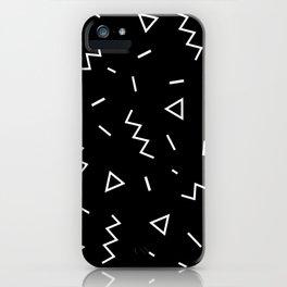 Inverted Black and White Zig Zag Print iPhone Case