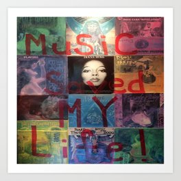 Music Saved My Life by T'Mculus' Soul Art Print