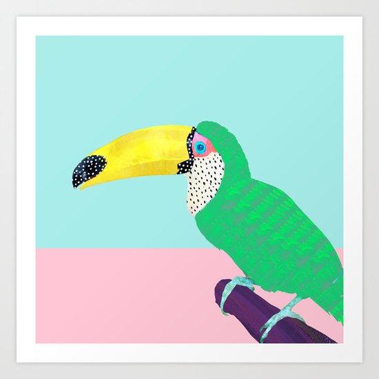 Chilling Toucan Art Print