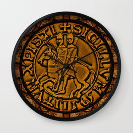 Medieval Seal of the Knights Templar Wall Clock