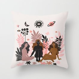 being here now Throw Pillow