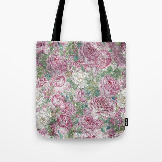 Vintage & Shabby-chic - floral roses flowers rose flower Tote Bag