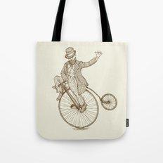 Flatland Penny Farthing Tote Bag