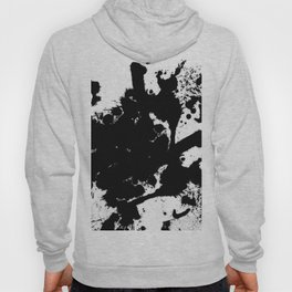 Black and white splat - Abstract, black paint splatter painting Hoody