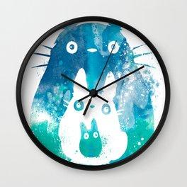 My Neighbor Totoro Watercolor Wall Clock