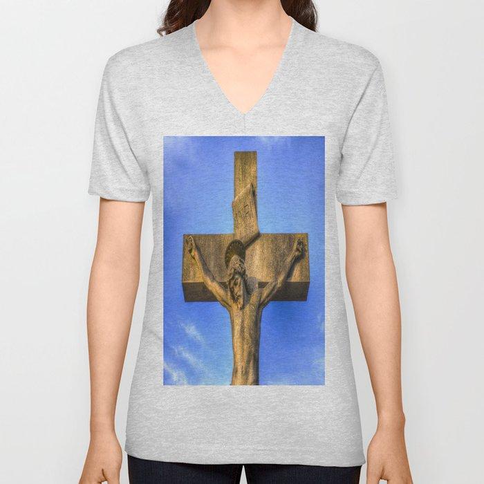 Jesus Statue Unisex V-Neck