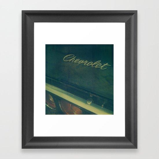 Chevrolet Polaroid Framed Art Print