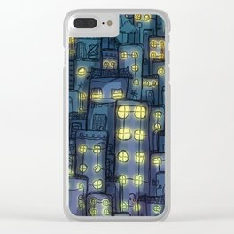Moon Thief - Night Biker Clear iPhone Case