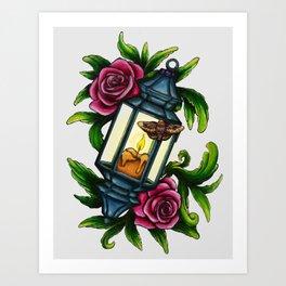 A Moth to the Flame Art Print