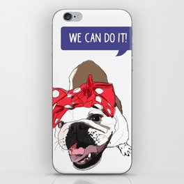 We Can Do it! Rosie the Bulldog iPhone Skin