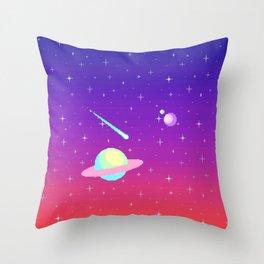 Pixelated Galaxy Throw Pillow