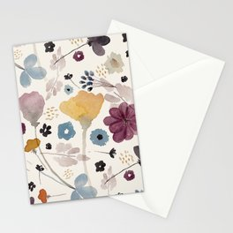 Watercolor Flowers Stationery Cards