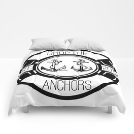 Drop The Anchors Badge Comforters