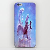 thanos iPhone & iPod Skins featuring nEBulA Pastel Blue & Lavender by 2sweet4words Designs