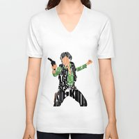 han solo V-neck T-shirts featuring Han Solo by Ayse Deniz