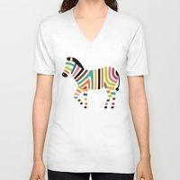 code V-neck T-shirts featuring Magic code by Andy Westface