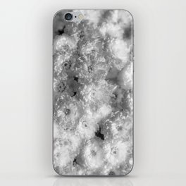 The Flower Pattern (Black and White) iPhone Skin