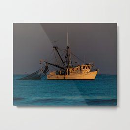 Tucker J fishing boat Metal Print