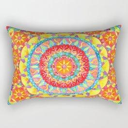 Sun Mandala Rectangular Pillow