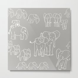 baby elephants at play Metal Print