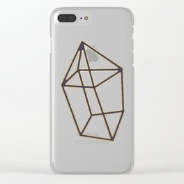 Golden gemstone Clear iPhone Case