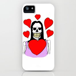 Valentina Moonguts Died For Love iPhone Case