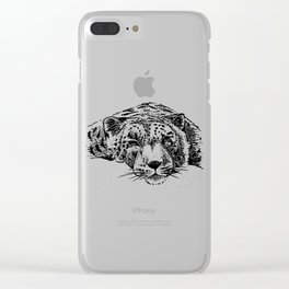 Chilling Leopard Clear iPhone Case